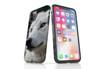 For iPhone 11 Pro Max Shielding Back Case  White Wolf