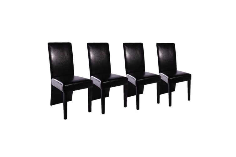 vidaXL Dining Room Chairs 4 pcs Black