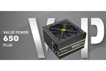 Antec VP650P PLUS 650w PSU. 80+ Certified @ 85% Efficiency AC 120V - 240V,
