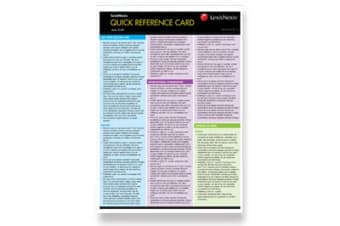 Quick Reference Card Tax I, 2016