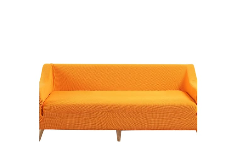Dreamz Couch Stretch Sofa Lounge Cover Protector Slipcover 4 Seater Orange New