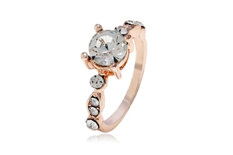 Ladies'Simple Zircon Ring End Finger Ring Jewelry Rose Gold 6