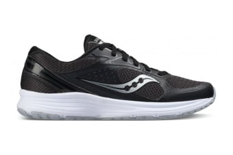 Saucony Women's Grid Seeker Running Shoe (Black/Grey/White, Size 6)