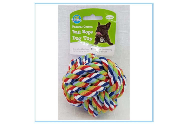 GREEN BLUE RED WHITE COLOURFUL JUMBO NATURAL COTTON ROPE BALL DOG TOY NON-TOXIC PET DENTAL HEALTH