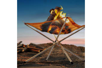 Portable Fire Pit BBQ Outdoor Camping Folding Wood Burner Fireplace