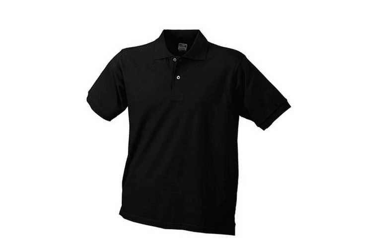 James and Nicholson Unisex Basic Polo (Black) (XL)
