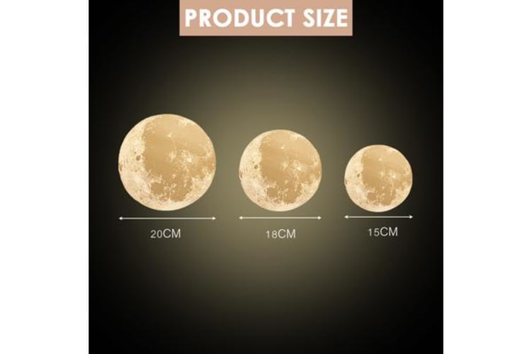 Dimmable 3D Magical Moon Lamp USB LED Night Touch Sensor Large