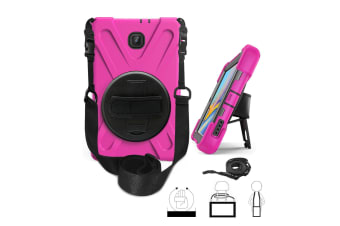 "For Galaxy TabA10.1""P580 ShockProof Hybrid Rugged Tablet Cover Case-Rose"
