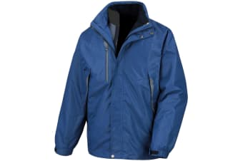 Result Mens 3-in-1 Aspen Performance Jacket (Waterproof  Windproof & Breathable) (French Navy/ French Navy) (2XS)