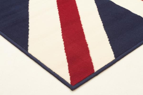Funky Union Jack Rug Blue Red White 230x160cm