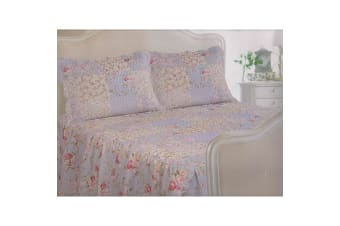 E Of W Utah Floral Diamond Quilted Bedspread With Pillowshams Bedding Set (Utah)