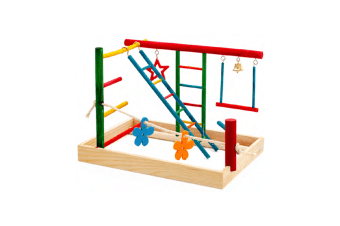 Bird Medium Play Gym & Activity Centre for Cockatiels, Small Parrots, Budgies
