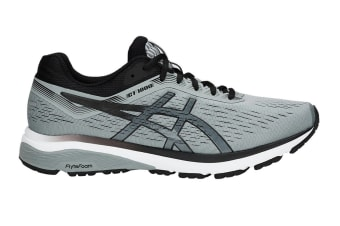 ASICS Men's GT-1000 7 Running Shoe (Stone Grey/Black, Size 9)