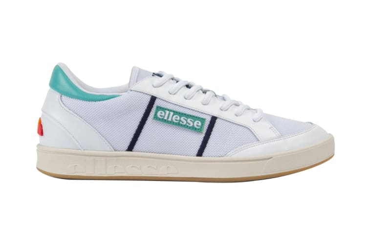 Ellesse Men's Ls-81 Bdg Text AM Shoe (White/Sea Blue, Size 13 US)