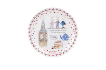 Ashdene Ruby Red Shoes Goes To London Cake Plate 15cm London Big Ben