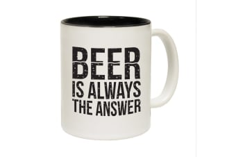 123T Funny Mugs - Beer Answer - Black Coffee Cup