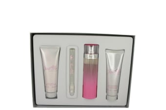 Paris Hilton Just Me Paris Hilton Gift Set - Eau De Parfum Spray + 3 oz Body Lotion + 3 oz Shower Gel + .34 oz Mini Eau De Parfum Spray