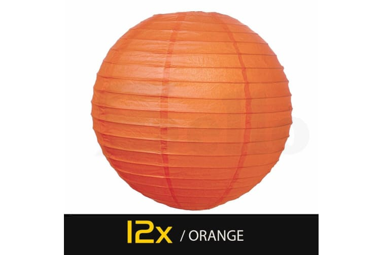 "12"" Paper Lanterns for Wedding Party Festival Decoration - Mix and Match Colours Orange"