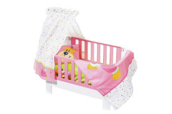 Baby Born Magic Bed Heaven 39-46cm Dolls Bed/Cot w/Canopy/Bedding Set/Toy 3y+