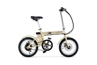"Cream 16"" 36V Folding Electric Bike - Zip"