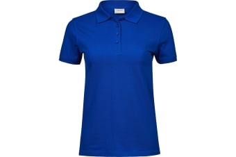 Tee Jays Womens/Ladies Heavy Cotton Pique Polo Shirt (Royal Blue) (XXL)