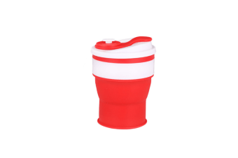 Silicone Collapsible Cup Convenient Travel Coffee Mug Food Grade Silicone Red 350Ml/Jll-107