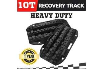 ATEM POWER Pair 10T Recovery Tracks Sand Mud Snow Tracks Trax 4X4 4WD Offroad ATV CAR Black