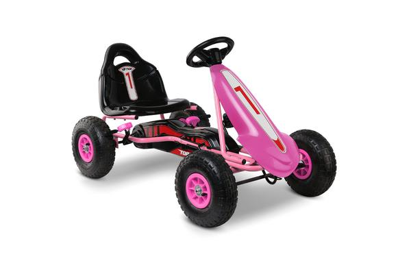 Kids Pedal Powered Go Kart (Pink)