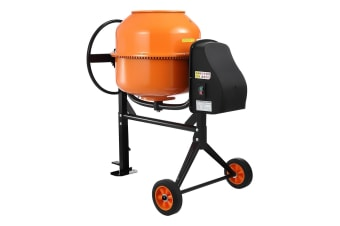 130L Portable Cement Mixer w/ Waterproof Power Motor for Concrete Stucco Mortar