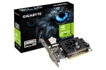 Gigabyte nVidia Geforce GT 710 1GB PCIe Video Card DDR3 HDMI DVI VGA Low Profile Fan (~GV-N710SL-1GL)
