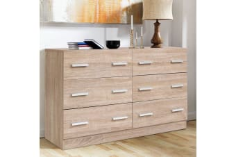 Artiss 6 Chest of Drawers Cabinet Dresser Table Tallboy Lowboy Storage Wood