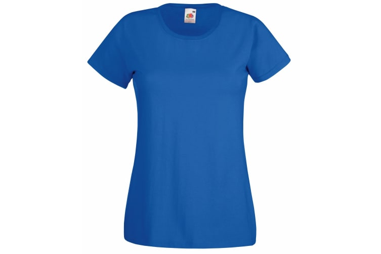 Fruit Of The Loom Ladies/Womens Lady-Fit Valueweight Short Sleeve T-Shirt (Royal) (XS)