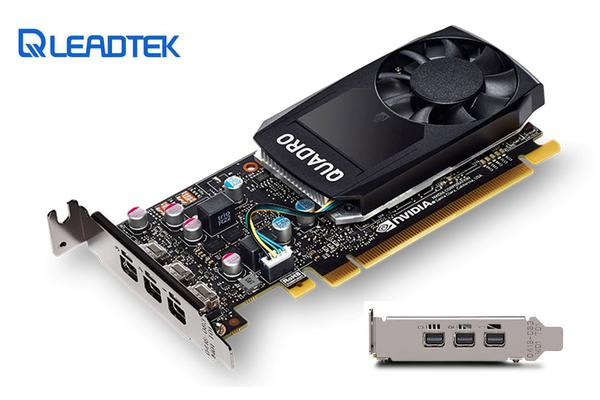 Leadtek nVidia Quadro P1000 PCIe Workstation Card 4GB DDR5 4xmDP 4x5120x2880@60Hz 128-Bit 82GB/s 640 Cuda Core Single Slot Low Profile ~VCL-K1200DP
