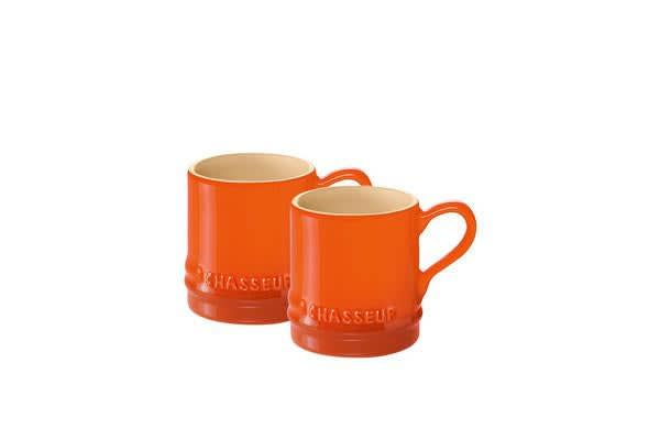 Chasseur La Cuisson Petit Espresso Cups Set of 2 Orange