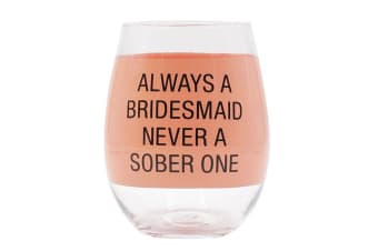 Say What Wine Glass - Always Bridesmd