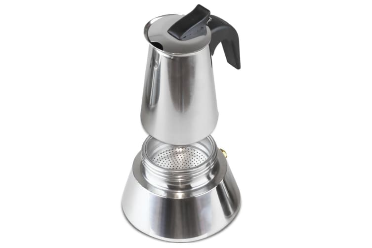 6 Cup Stainless Steel Espresso Maker Stove Top Coffee Cooker Percolator