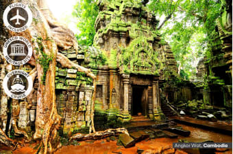 ​VIETNAM & CAMBODIA:​ 12 Day Highlights of Vietnam​ and Cambodia Tour ​Including​ ​Flights​ ​for Two
