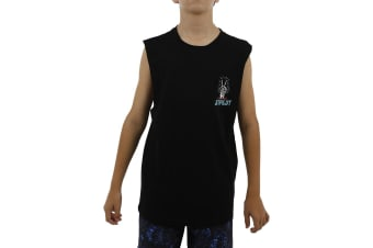 JetPilot Nuclear Youth Muscle Tank - Black - 12