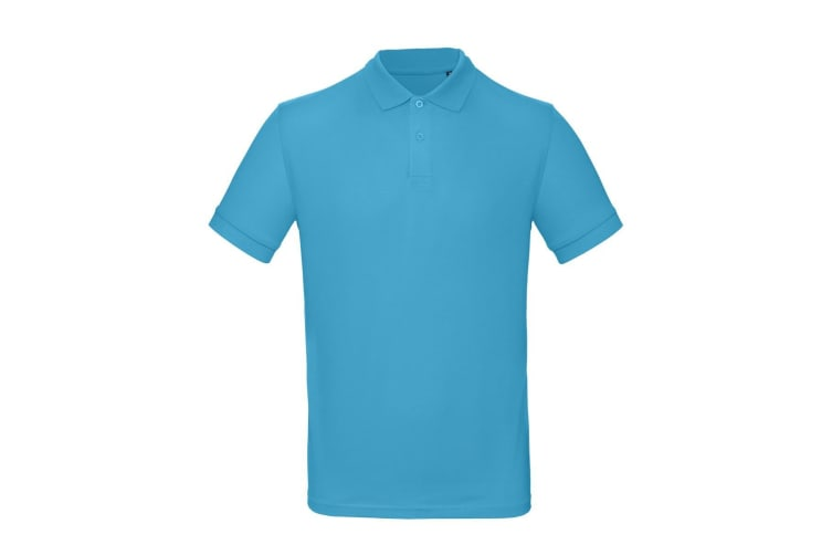 B&C Mens Inspire Polo (Pack of 2) (Very Turquoise Blue) (L)