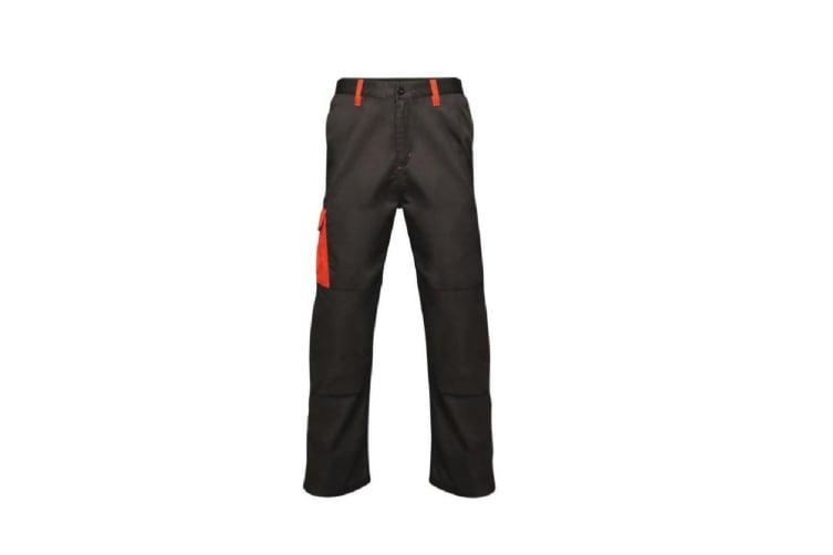 Regatta Mens Contrast Cargo Trousers (Black/Classic Red) (30S)
