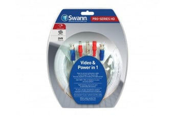 Swann HD Video & Power 200ft / 60m BNC Cable (SWPRO-60MTVF)