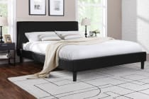 Ovela PVC Leather Bed Frame - Alto Collection (Black)