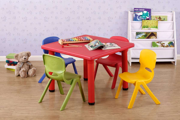 Kids' Plastic Table & Chair Set