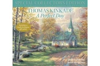 Thomas Kinkade Special Collector's Edition with Scripture 2019 Deluxe Wall Calendar