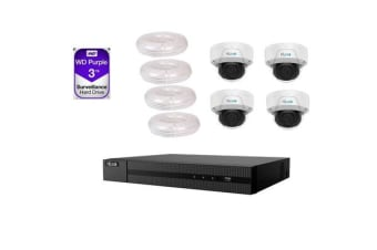 HiLook IP PoE IPK-2ME4T4-3T/P1 Security Bundle Kit 4 Channels Surveillance System