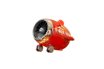 Select Mall Bluetooth Speaker Aircraft Model Bluetooth Audio Subwoofer Speaker Portable Wireless Mini Speaker-Red