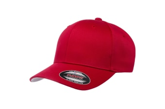 Flexfit Unisex Wooly Combed Cap (Red)