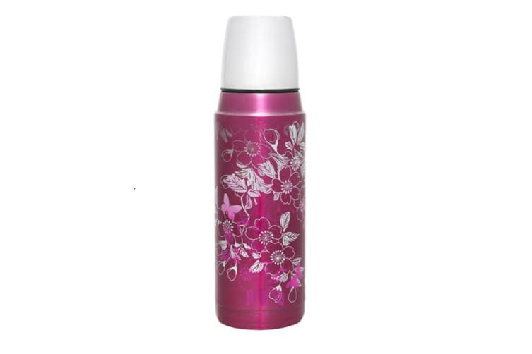 Thermos 480ml Stainless Steel Insulated Vacuum Flask - Floral Magenta