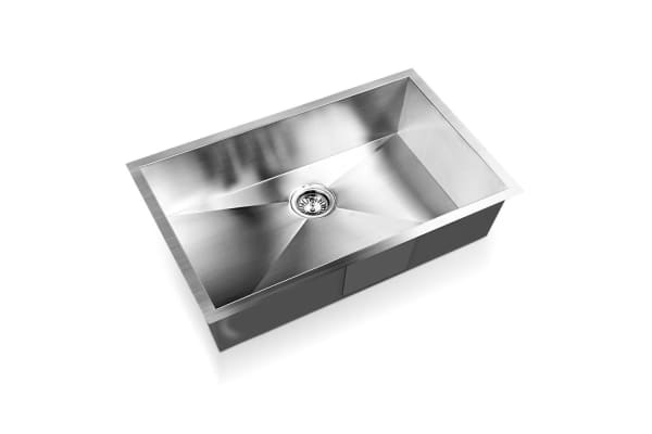 Stainless Steel Kitchen/Laundry Sink with Strainer Waste 700x450mm