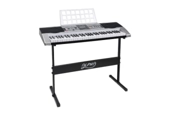 61 Keys Electronic Piano Keyboard LCD Electric Music Stand Adaptor
